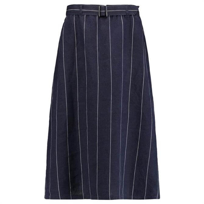 Gerry Weber Stripe Linen Midi Skirt