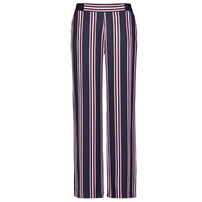 Gerry Webber Bold Stripe Wide Leg Trousers