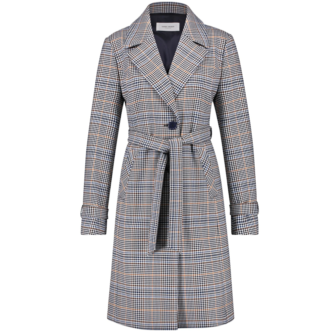 Gerry Weber Checked Trench Coat