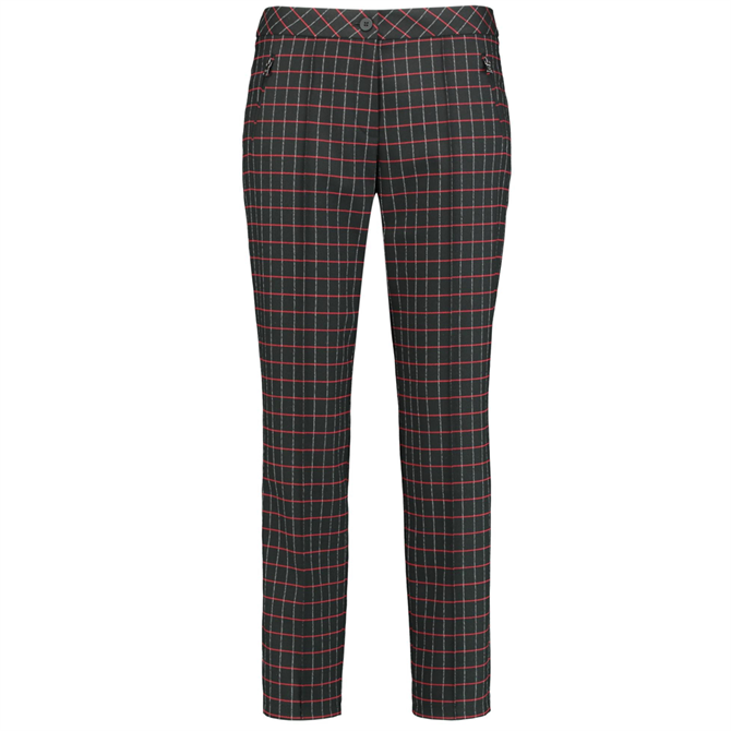 Gerry Weber Checked Cropped Trousers