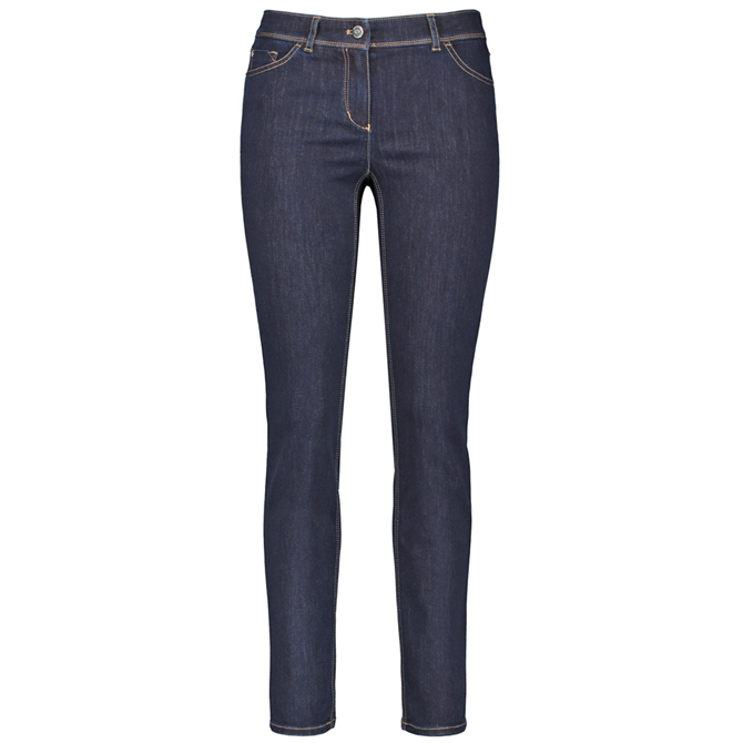 Gerry Weber Contrasting Stitching Skinny Blue Jeans
