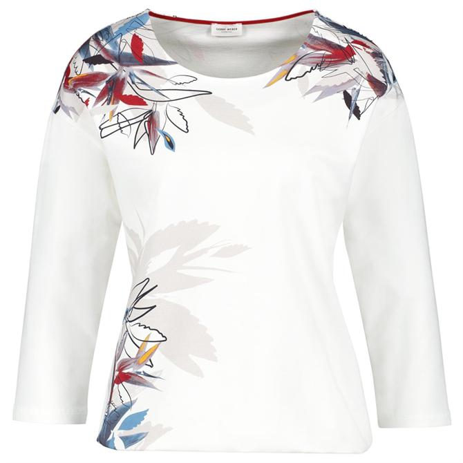 Gerry Weber Floral Placement Print Sweatshirt
