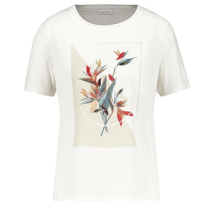 Gerry Weber Floral Placement Print T-Shirt