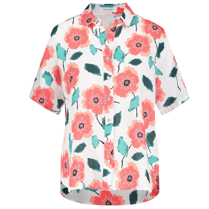 Gerry Weber Floral Print Short Sleeve Shirt