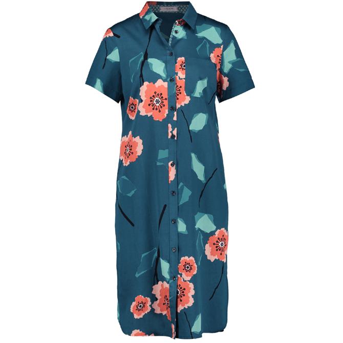 Gerry Weber Floral Print Short Sleeve Shirt Dress
