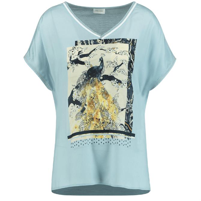Gerry Weber Peacock Print T-Shirt