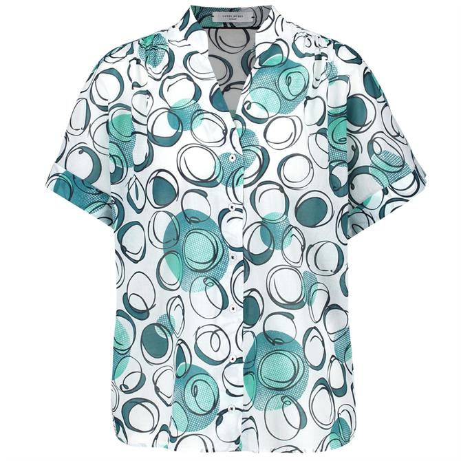 Gerry Weber Short Sleeve Circle Print Blouse