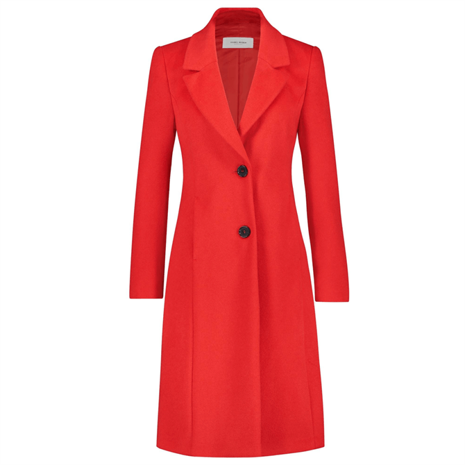 Gerry Weber Wool Blend Tailored Red Coat