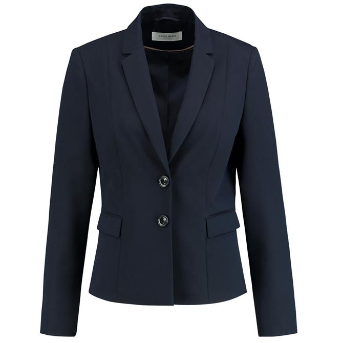 Gerry Weber Shorter Length Plain Navy Blazer