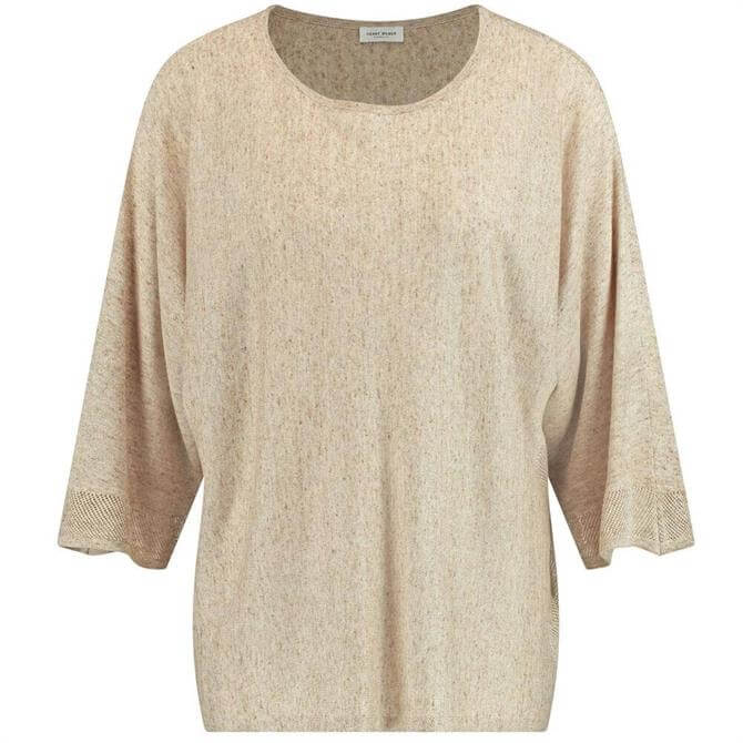 Gerry Weber 3/4-length Sleeves Loose Fit Linen Sweater