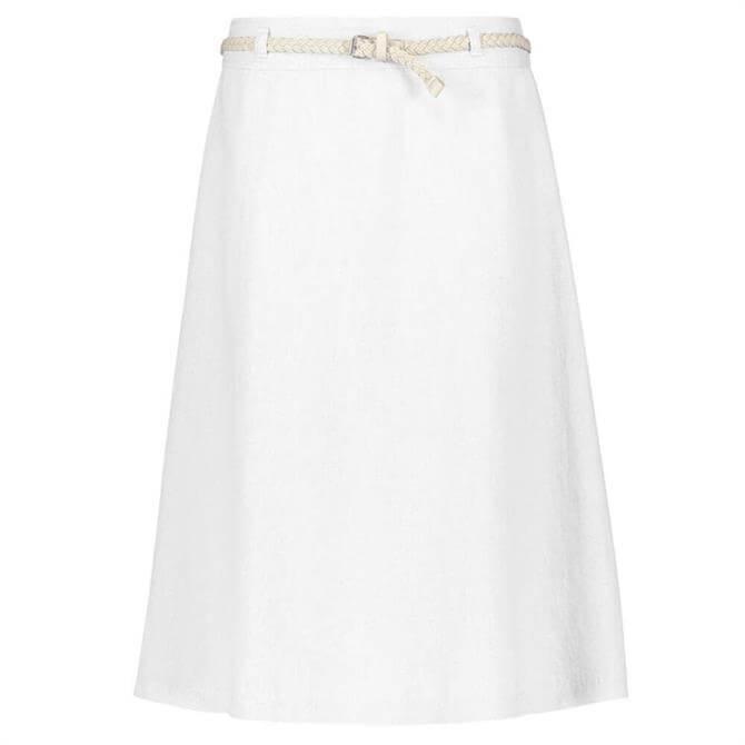 Gerry Weber Belted A-Line Linen Skirt