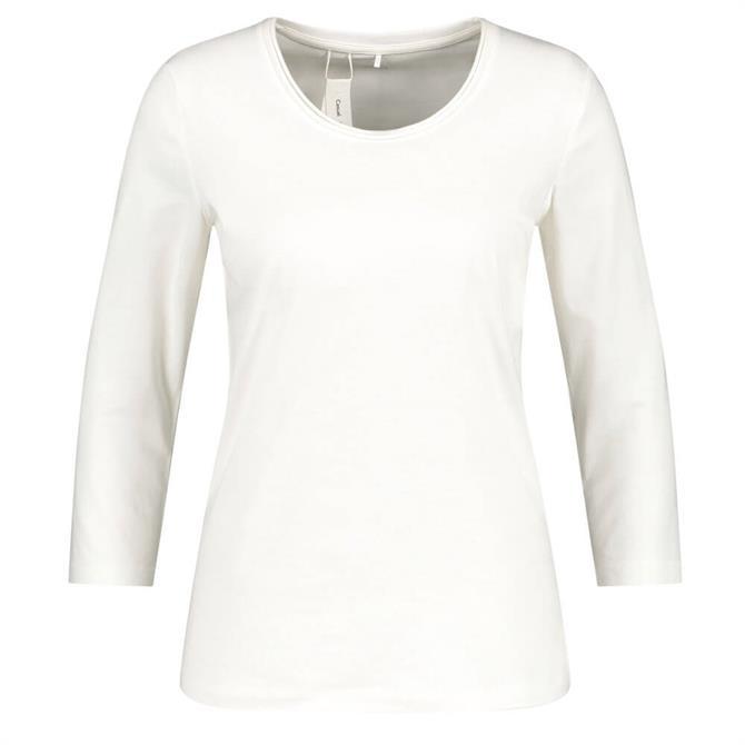 Gerry Weber Basic 3/4 Sleeve Cotton Blend Top