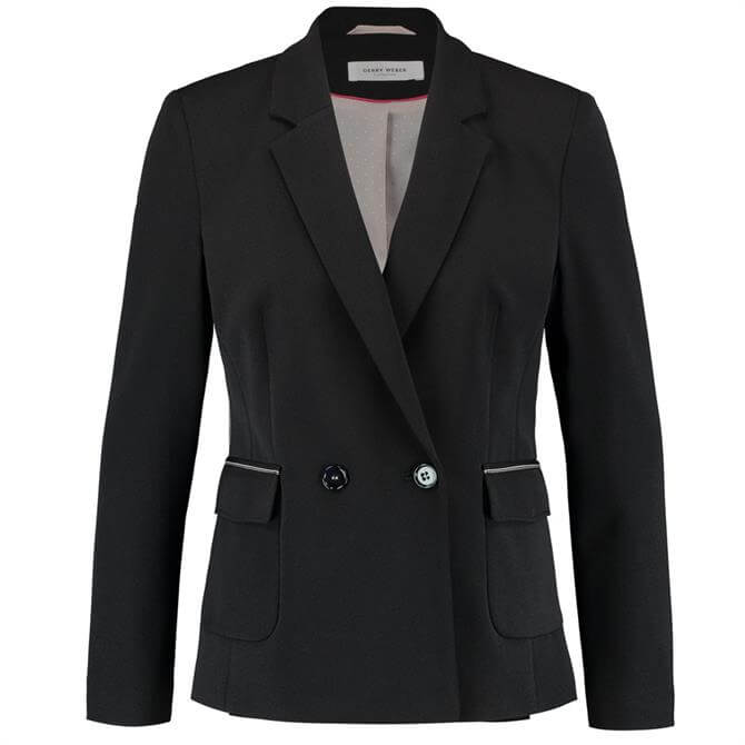 Gerry Weber Black Blazer with Piping