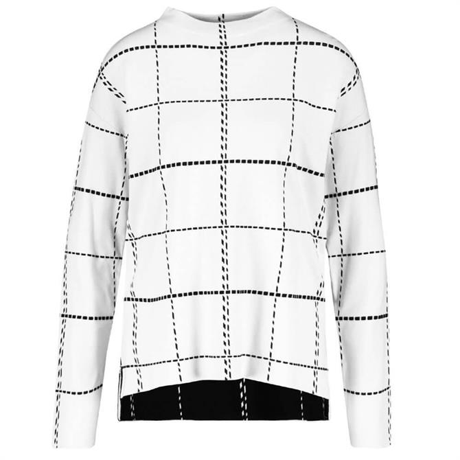 Gerry Weber Checked Long Sleeve Sweater