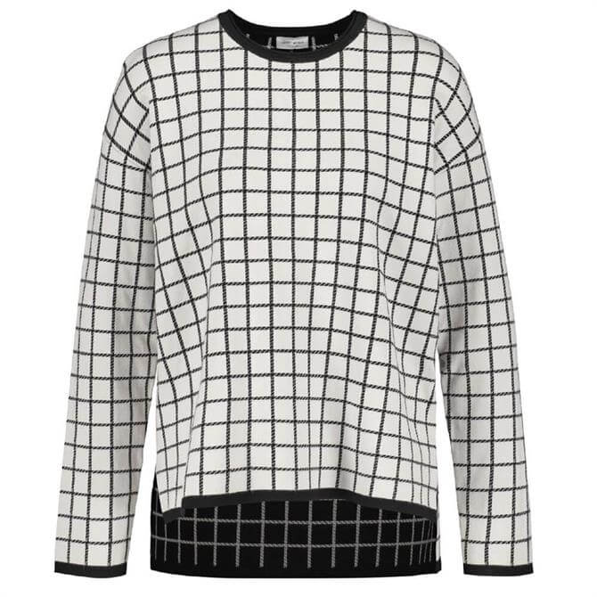 Gerry Weber Check Pattern Sweater