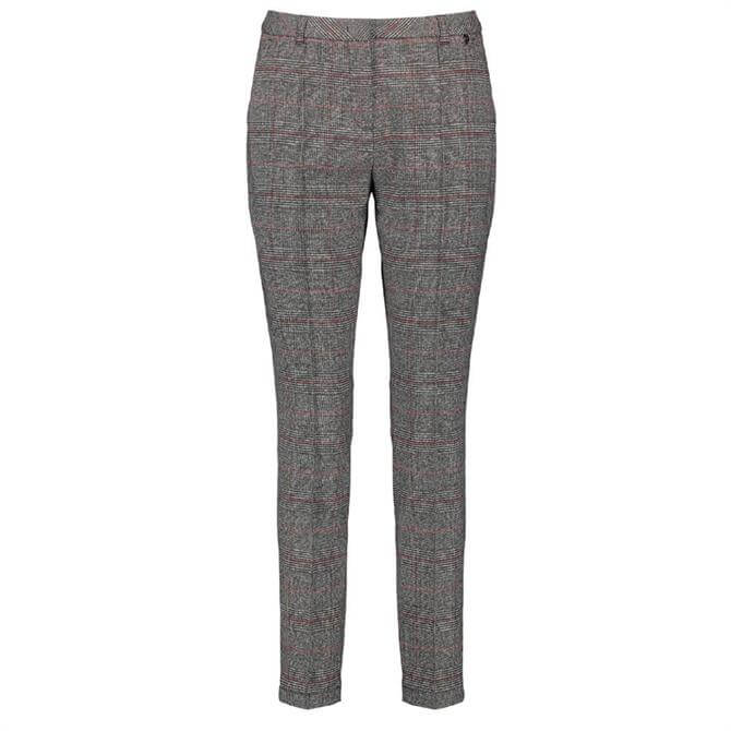 Gerry Weber Checked Stretch Slim Leg Trousers