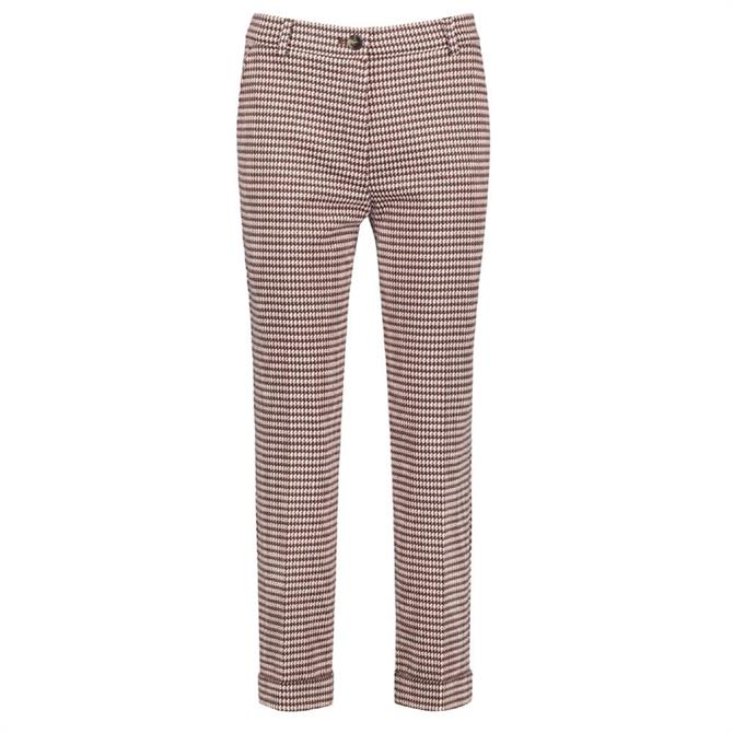 Gerry Weber Dogtooth Tailored Stretch Jersey Trousers