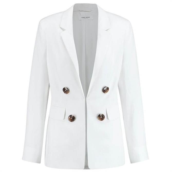Gerry Weber Double-Breasted Blazer in White