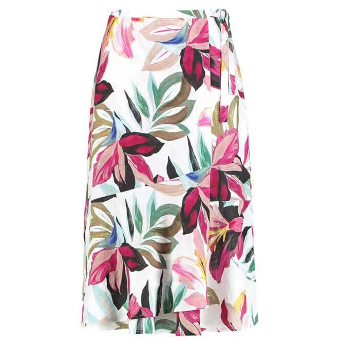 Gerry Weber Floral Linen A-Line Midi Skirt