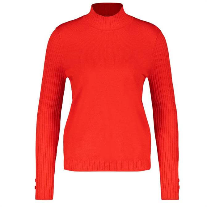 Gerry Weber High Neck Chili Red Sweater