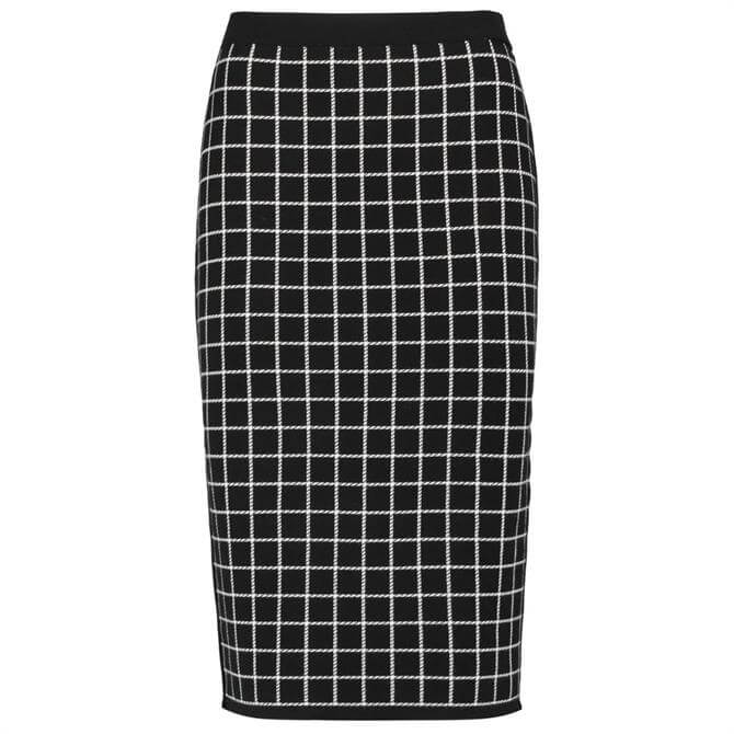 Gerry Weber Checked Knitted Pencil Skirt