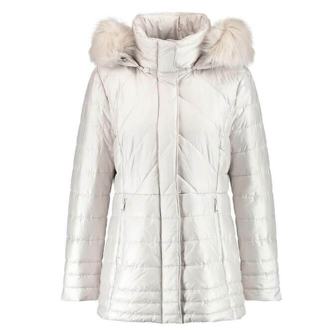 Gerry Weber Quilted Hooded Jacket in Desert