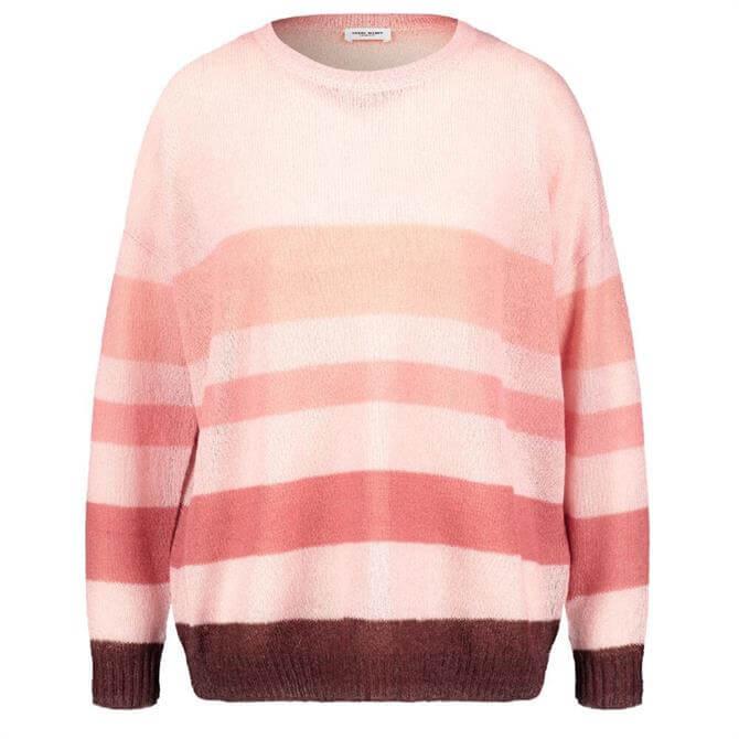Gerry Weber Rose Pink Multi-Stripe Sweater