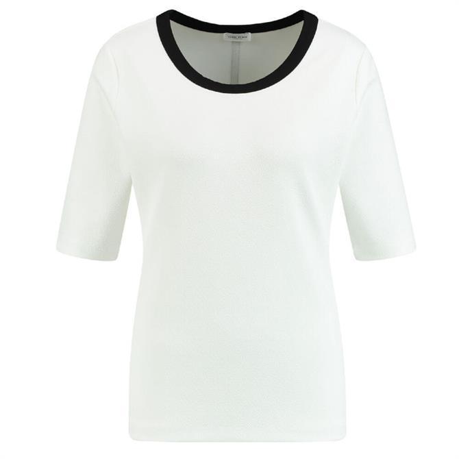 Gerry Weber Short Sleeve Contrast Trim T Shirt