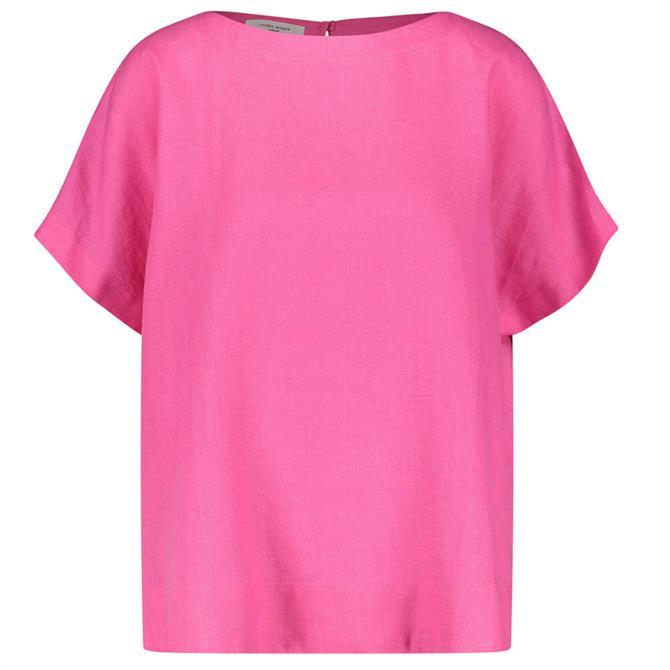 Gerry Weber Short Sleeve Linen Blouse Top