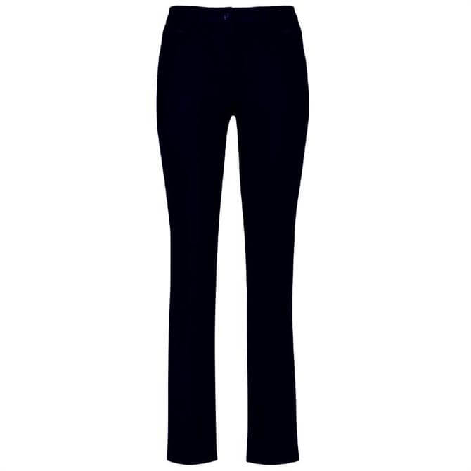 Gerry Weber Slim Fit Stretch Navy Trousers