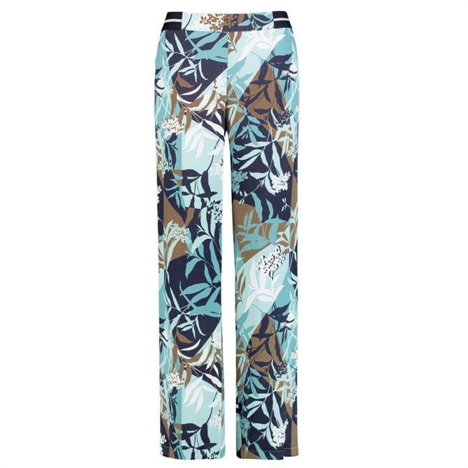 Gerry Weber Straight Wide Leg Patterned Trousers