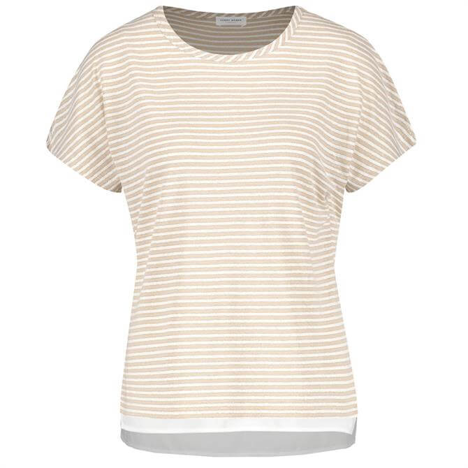 Gerry Weber Striped Double Layer Style T-Shirt