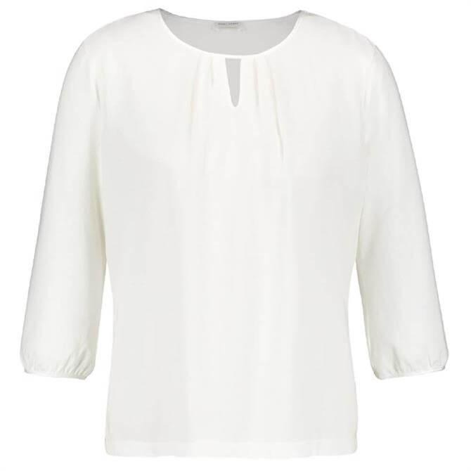 Gerry Weber ¾ Length Sleeve Pleat Detail Top