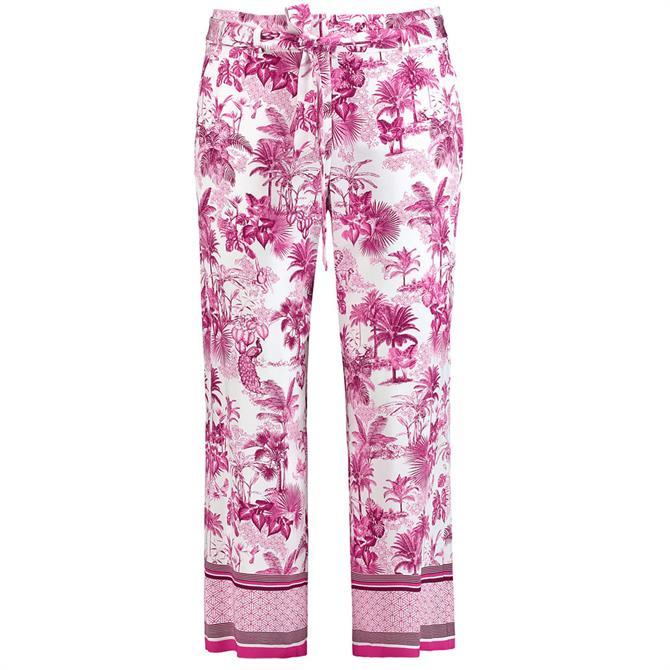 Gerry Weber Tropical Garden Print Wide Leg Trousers