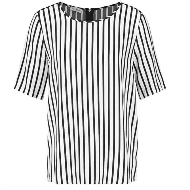 Gerry Weber Contrast Black and White Striped Top