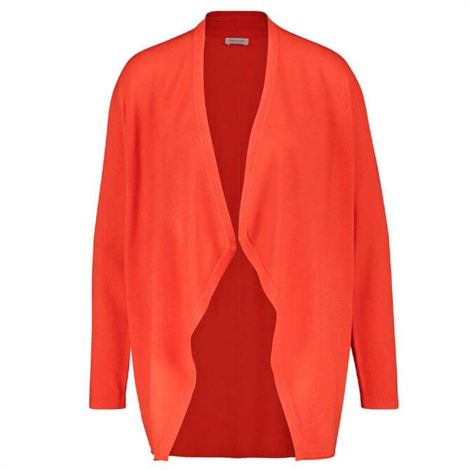 Gerry Weber Waterfall Front Cardigan in Red Orange