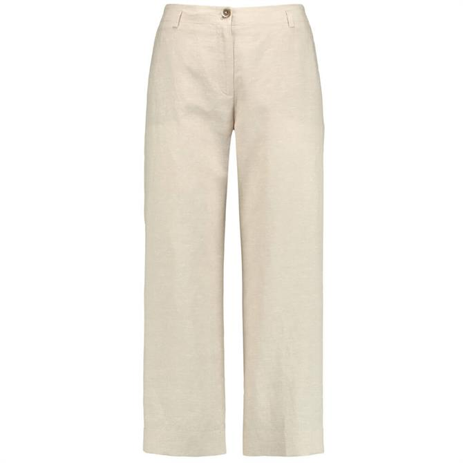 Gerry Weber Wide 7/8 length Trousers in Beige