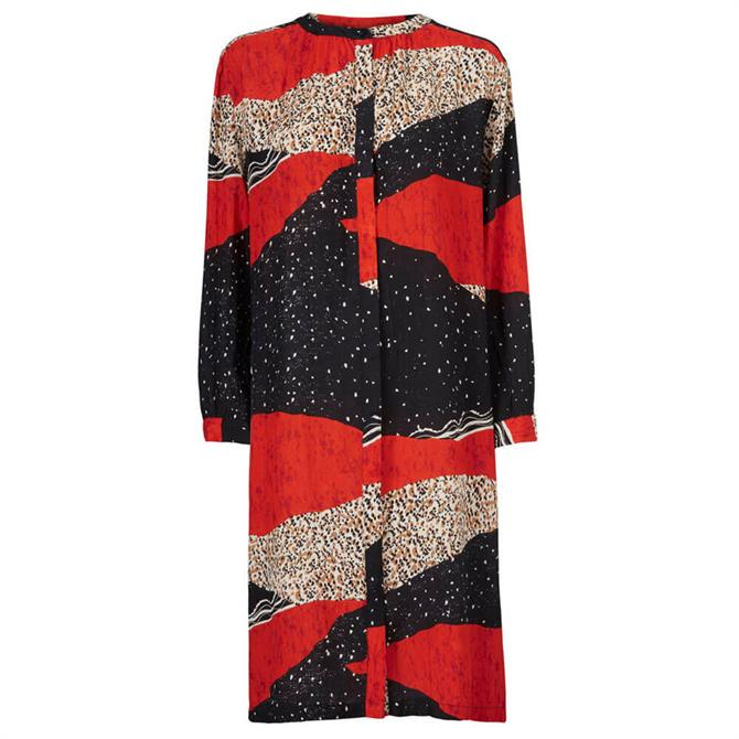 Masai Nani Long Sleeve Printed Shirt Dress
