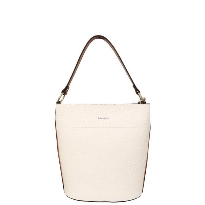 Gianni Conti Pebbled Leather Bucket Bag