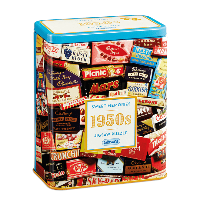 Gibsons 1950s Sweet Memories Gift Tin Jigsaw Puzzle