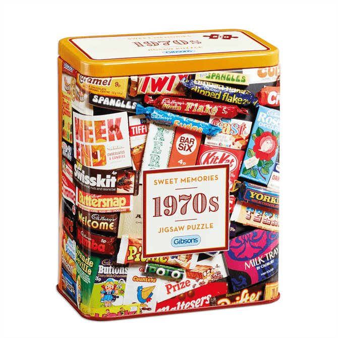 Gibsons 1970s Sweet Memories Gift Tin Jigsaw Puzzle