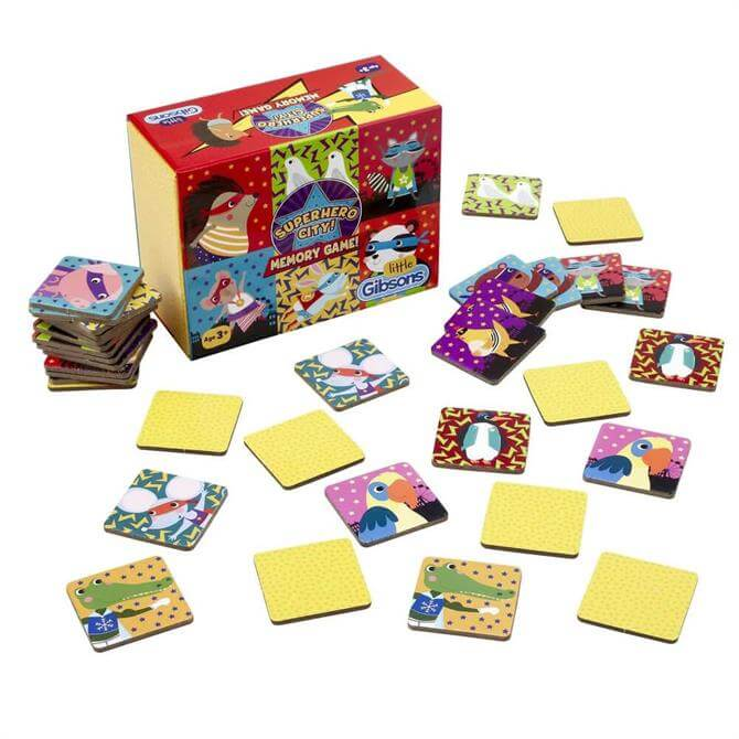 Gibsons Superhero City Children's Memory Game