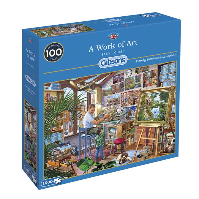 Gibsons 1000 Piece A Work of Art Jigsaw Puzzle