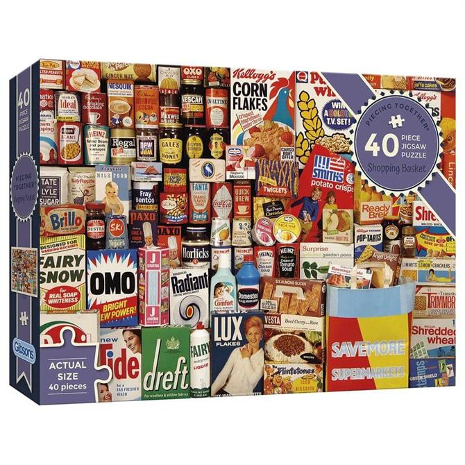 Gibsons Piecing Together - Shopping Basket Extra-Large Jigsaw Puzzle