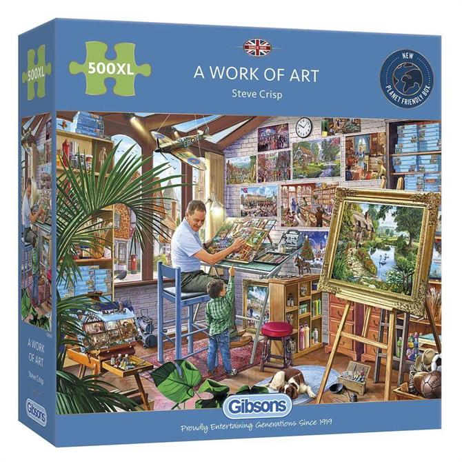 Gibsons A Work of Art 500 Piece Jigsaw Puzzle