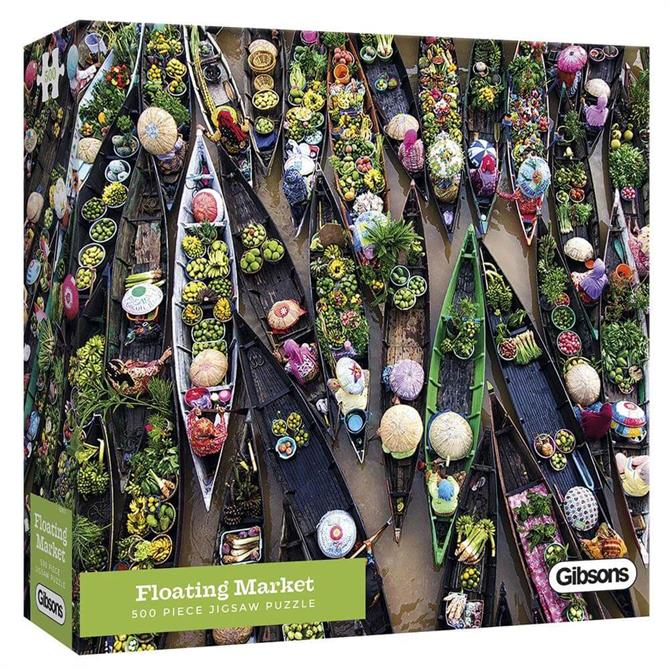 Gibsons Floating Market 500 Piece Jigsaw Puzzle