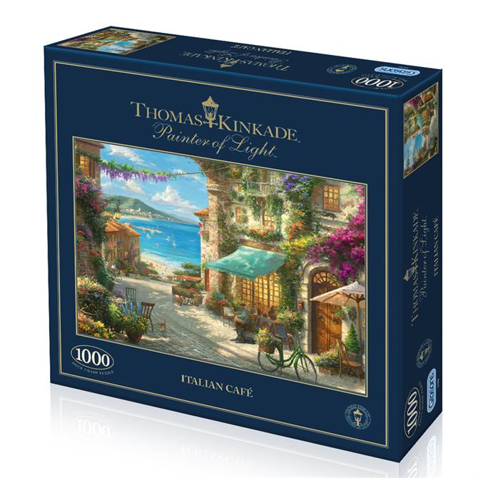 Thomas Kinkade 1000 Piece Italian Cafe Jigsaw Puzzle