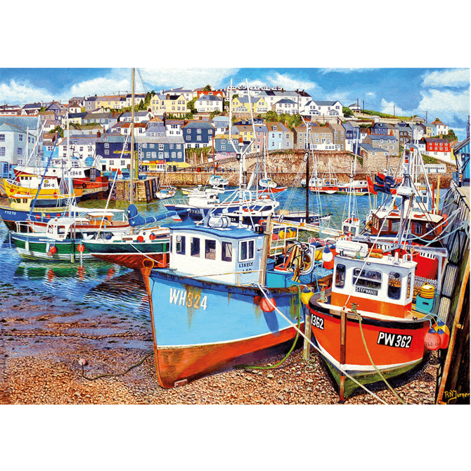 Gibsons 500XL Mevagissey Harbour Jigsaw Puzzle