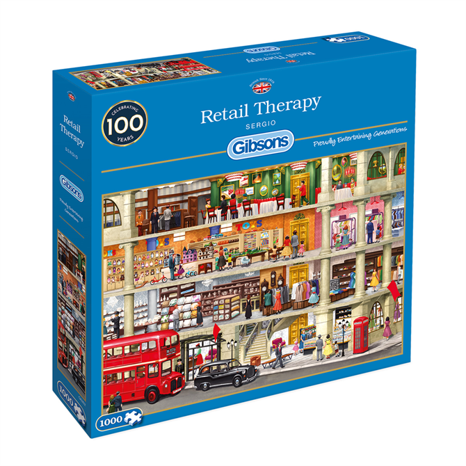 Gibsons 1000 Piece Retail Therapy Jigsaw Puzzle