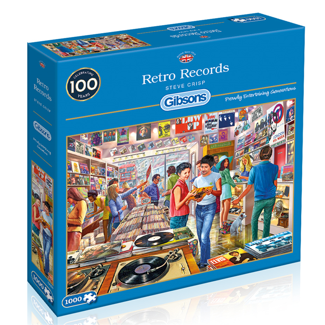 Gibsons 1000 Piece Retro Records Jigsaw Puzzle